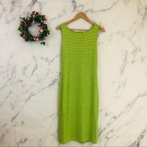 St. John Evening Studded Santana Knit Dress